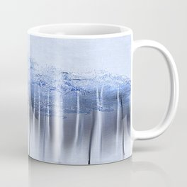 Shredded Abstract in Blue Coffee Mug