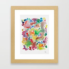 Abstract unconscious animals Framed Art Print