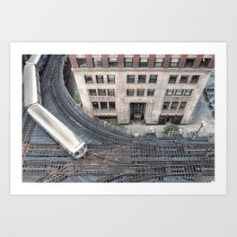 down on the tracks Art Print