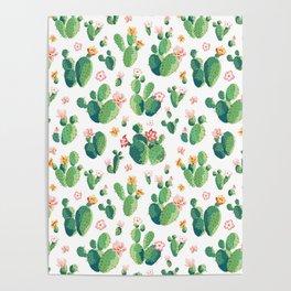 Cactus pattern II Poster