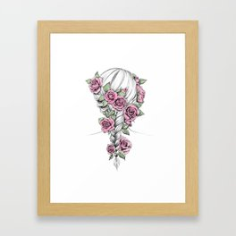 Rosy Braid Colored Framed Art Print