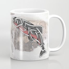 Celtic Knot Salmon Coffee Mug