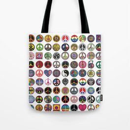 PEACE PATCH COLLECTION (white) Tote Bag