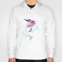 hummingbird Hoodies featuring Hummingbird by Alexis Marcou