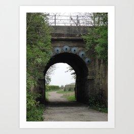 Bridge under the Railway Art Print
