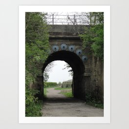 Bridge under the Railway Art Print