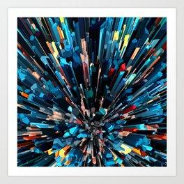 Three Dimensional Color Stacks Art Print