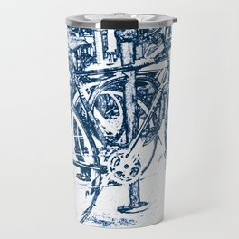 Blue Bicycles Travel Mug