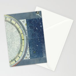 Vintage Celestial Star Map with Planetary Orbits (1858) Stationery Cards