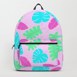 Bright Tropical Leaves Backpack