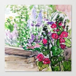 Public flower garden - Charlestown Canvas Print