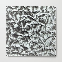 Crumpled paper. Metal Print