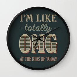 OMG Wall Clock