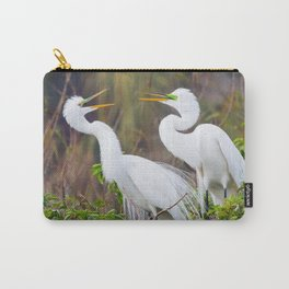 Egret Pair Carry-All Pouch