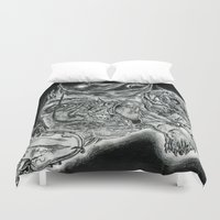 salvador dali Duvet Covers featuring Salvador Dali by Art & Ink