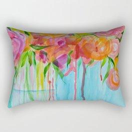 Running Roses Rectangular Pillow