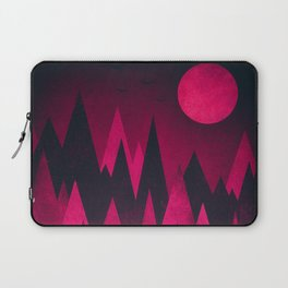 Dark Triangles (Peak Woods) Abstract Grunge Mountains Design (red/black) Laptop Sleeve