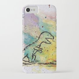 Dinosaur - 4, May 2014 - Tonight's Watercolor iPhone Case