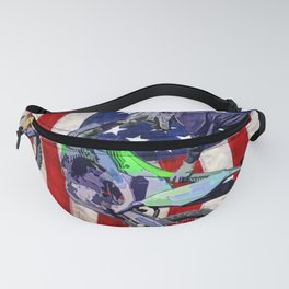 High Flying Freestyle Motocross Rider & US Flag Fanny Pack