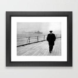 Winston Churchill At Sea Framed Art Print