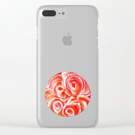 Peach Plum Dreams Clear iPhone Case