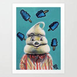 Pete and Pete Mr Tastee - Blue Tornado Bar Art Print