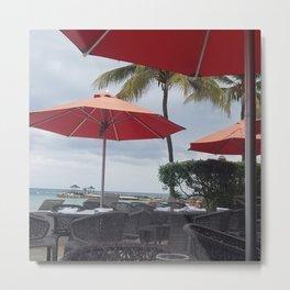 "Umbrellas and Palms by Denise ""Mimi"" Gabriel Metal Print"