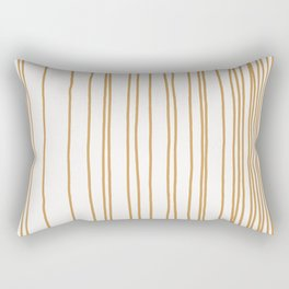 Linear Gradation - Caramel Rectangular Pillow