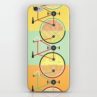 bikes iPhone & iPod Skins featuring Bikes by KateWadsworth
