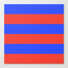 Even Horizontal Stripes, Blue and Red, XL Canvas Print