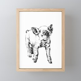 Pig Framed Mini Art Print