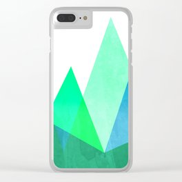 Mountains - Trees Clear iPhone Case