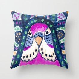 Aboriginal Budgie Throw Pillow