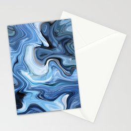 Marble texture print Stationery Cards