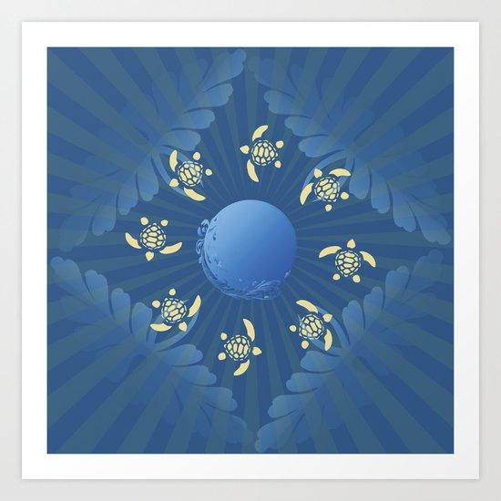 Turtle Run Art Print
