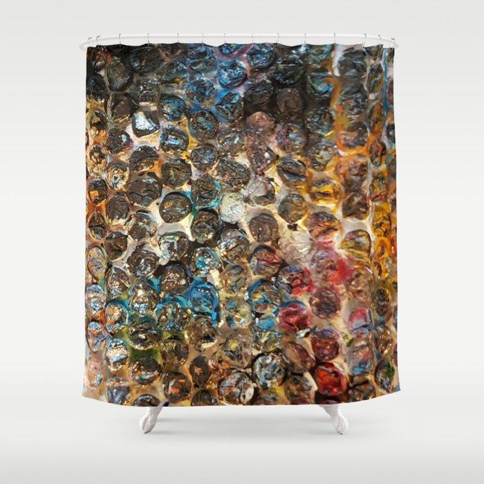 Artsy Bubble Wrap Shower Curtain