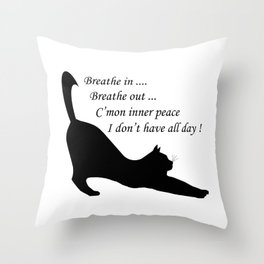 When inner peace eludes one Throw Pillow