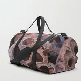 Dried lotus Duffle Bag