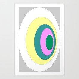Circles graphic design Art Print