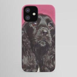 English Cocker Spaniel Dog Digital Art iPhone Case