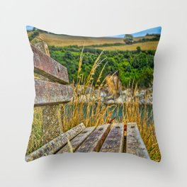 Maenporth Walk - Bench Throw Pillow