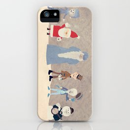 Claymation Lineup  iPhone Case
