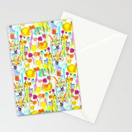 Childhood Butterfly's in a Spring Garden Stationery Cards