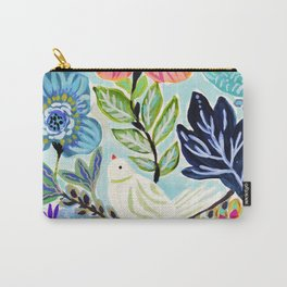 Bird and Blooms Carry-All Pouch