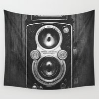 cameras Wall Tapestries featuring The King of Cameras - The Rolleiflex by Dan Howard