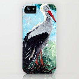 Animal - The beautiful stork - by LiliFlore iPhone Case