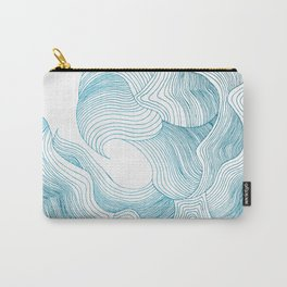Floral Wave (Teal Edition) Carry-All Pouch