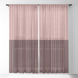 Color Block Lines XVI Sheer Curtain