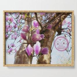 Magnolias & Moon Serving Tray