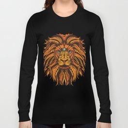 Color Mandala Lion Long Sleeve T-shirt